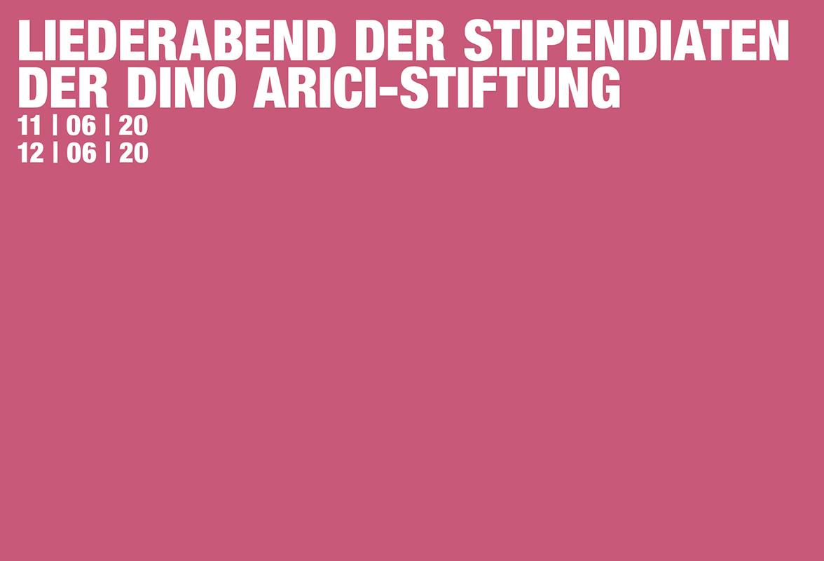 Liederabend der Stipendiaten der Dino Arici-Stiftung